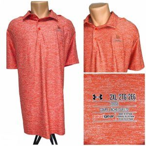 Under Armour Heather Red 2XL Loose Golf Polo